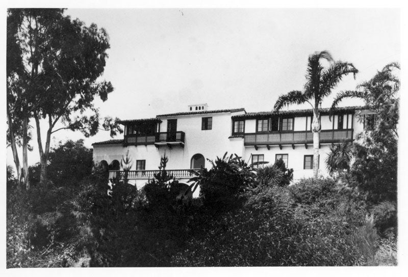 Villa Aurora in the 1940s, photo by Thomas Young