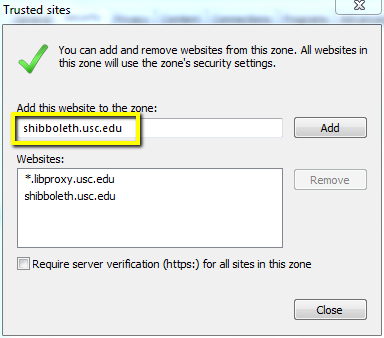 Browser Configuration for the USC Proxy Server | USC Libraries