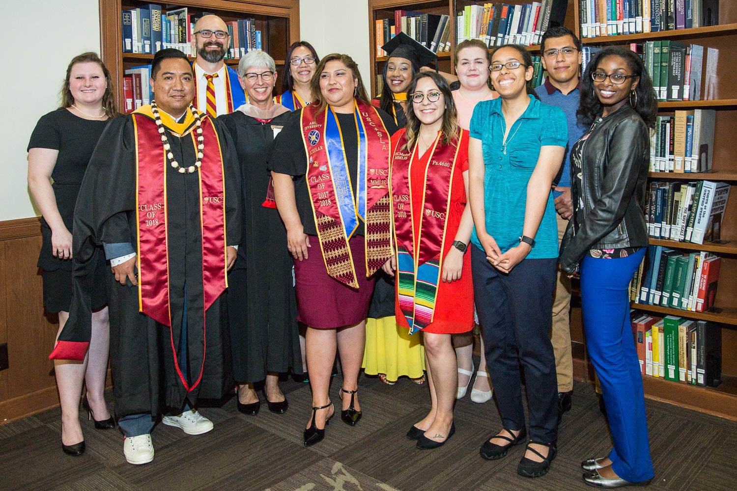 USC Libraries Dean Catherine Quinlan with graduates of the USC Master of Management in Library and Information Science program