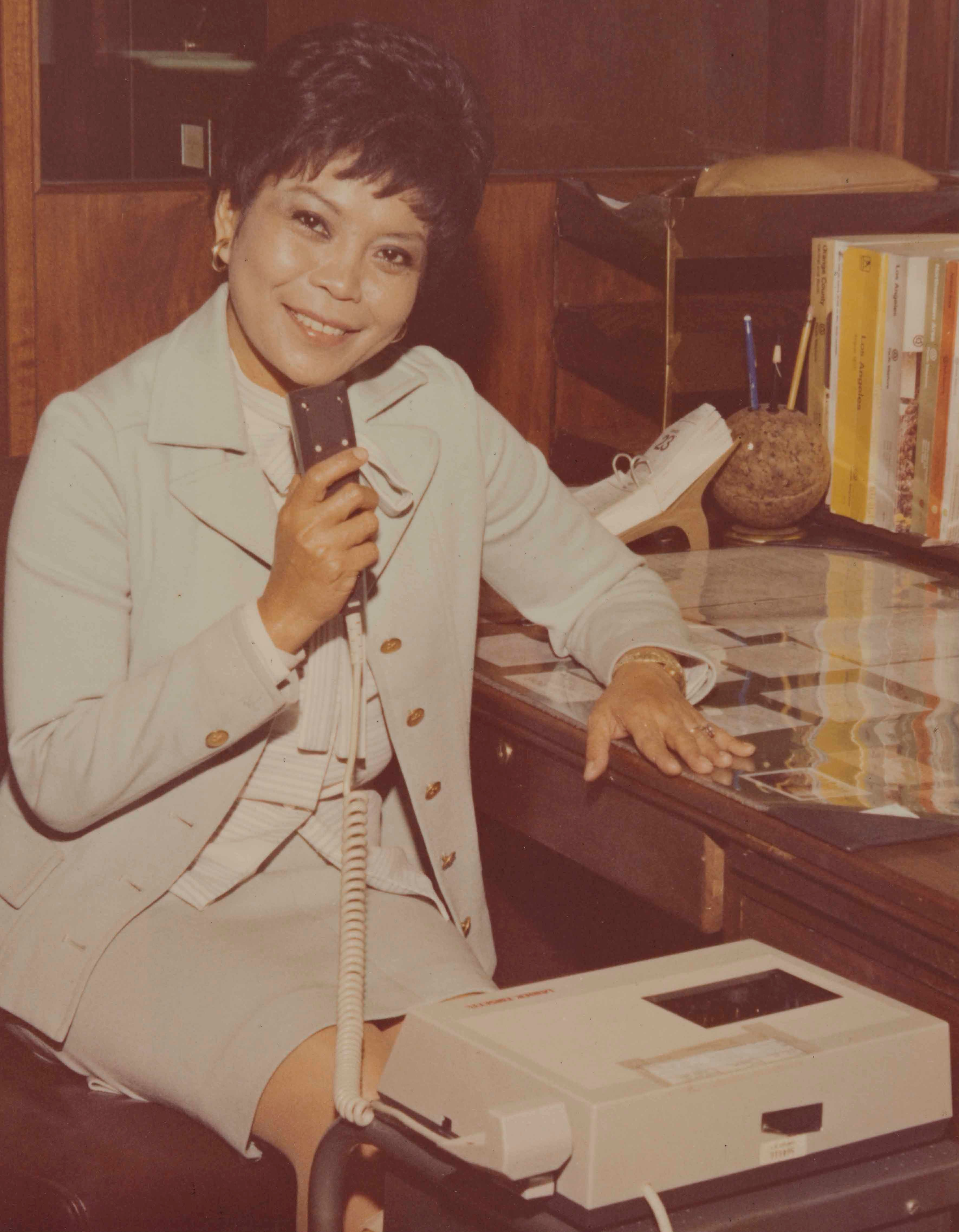 "Photograph of lawyer Sofia Nietes from ""Leading Filipino Americans from the Greater Los Angeles Area"" (ca. 1970s). Filipino Amer"
