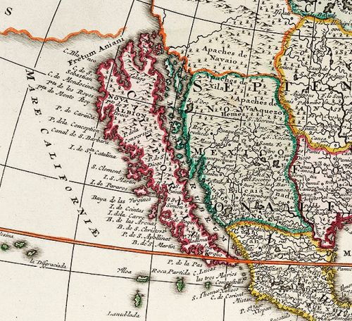 Show California Map.California As Island The Valk Map In The Usc Chronicle Usc Libraries