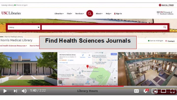 Find Health Sciences Journals Video Tutorial