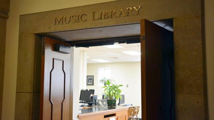 Music Library Entrance
