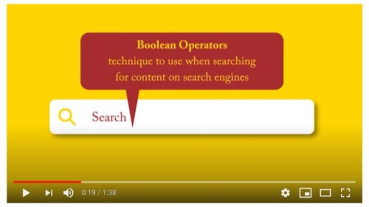 search with boolean operators video thumbnail