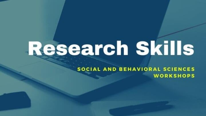 stock photo for research skills- social and behavioral sciences workshops