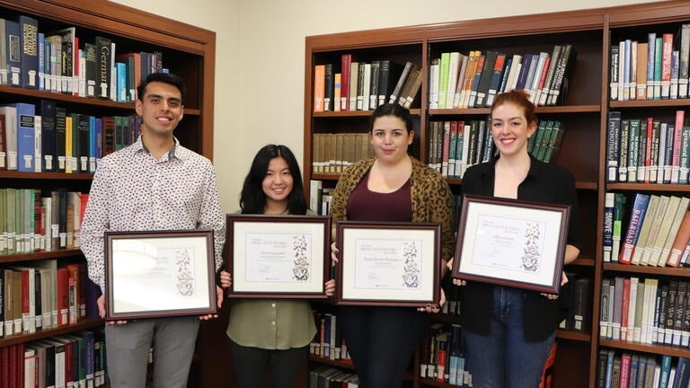 Winners of the USC Libraries Research Award