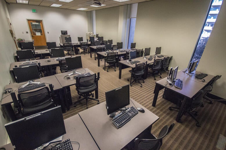 Computer Lab at Norris Medical Library