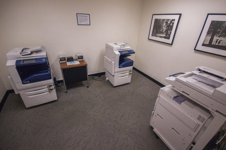 Photocopiers and printers in the Norris Medical Library