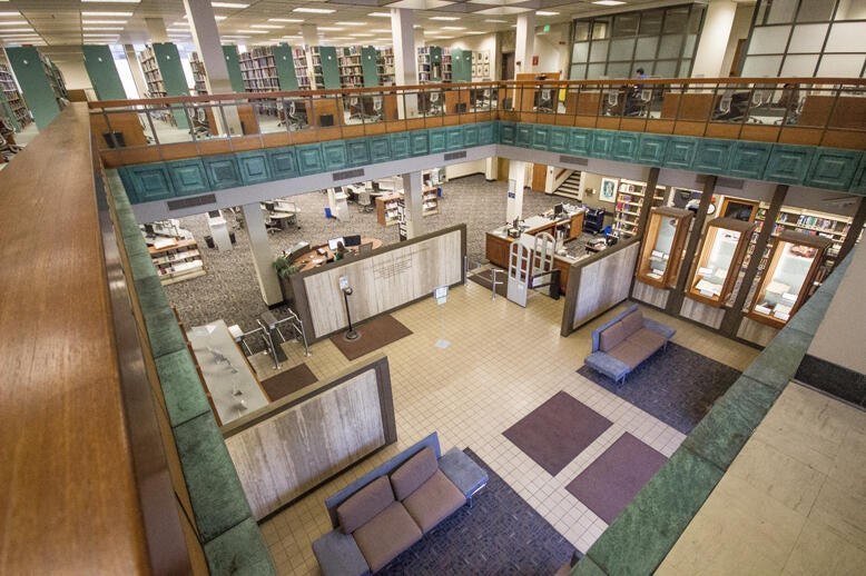 Atrium in Norris Medical Library