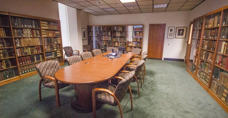 Rare Book Room in Norris Medical Library